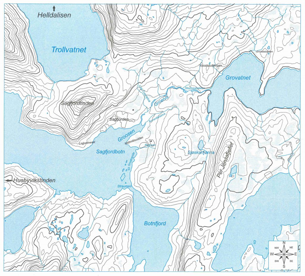 Map of Sagfjorgbotn